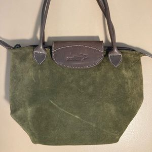 Mission army green suede le pliage bag